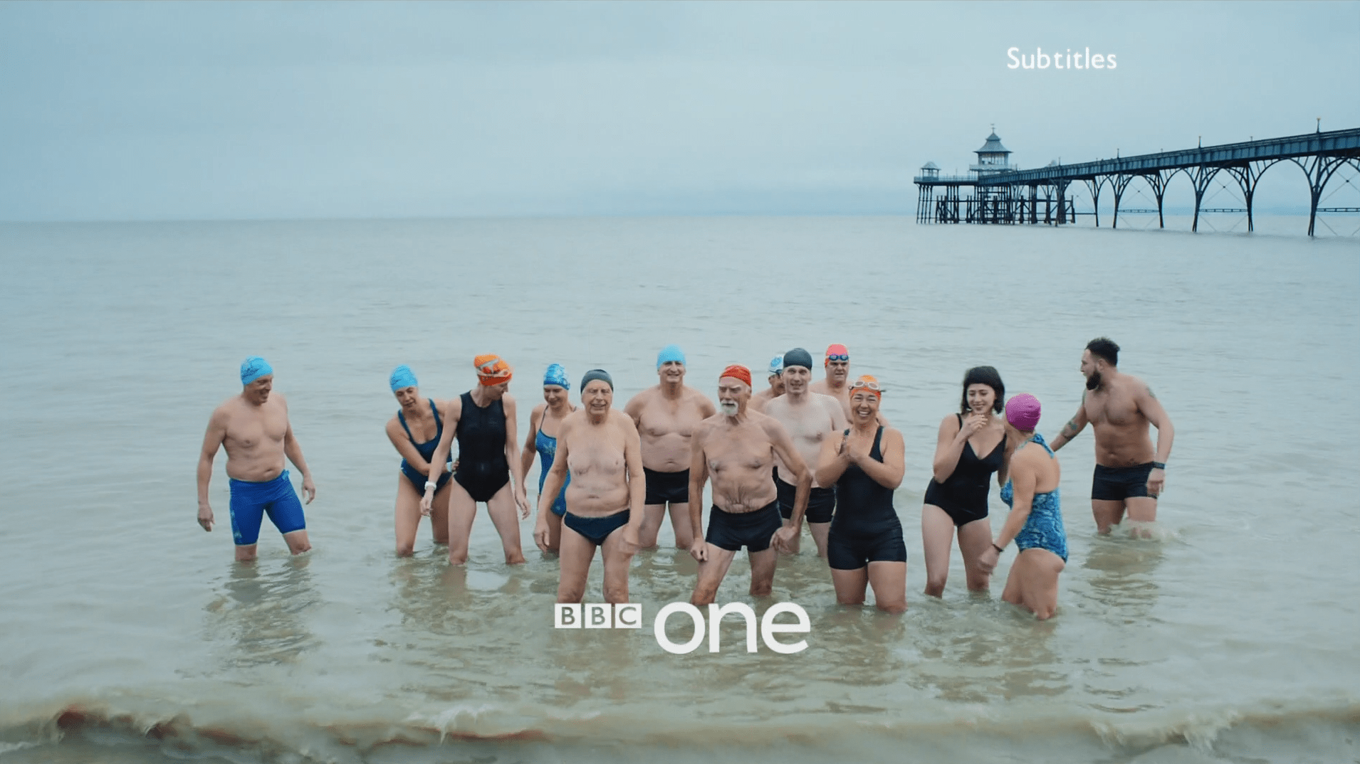 PICTURED: BBC One ident - Sea Swimmers, Clevedon.