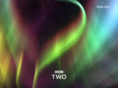 PICTURED: BBC Two ident - Christmas 2018.