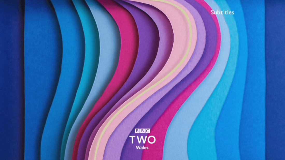 PICTURED: BBC Two Wales ident.