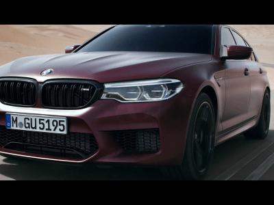 PICTURED: BMW M5 Advertisement.