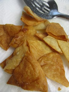 Fried Tortilla Chips for Italian Nachos