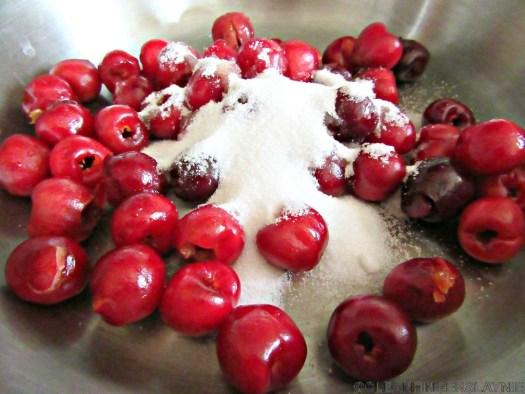 Cherries and Sugar in Sauce Pan