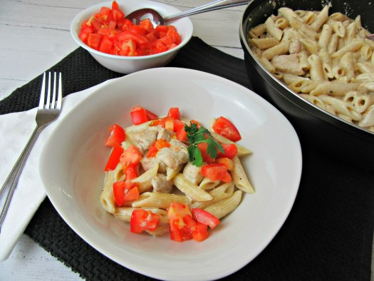 Copycat Chili's Cajun Chicken Pasta Table Spread