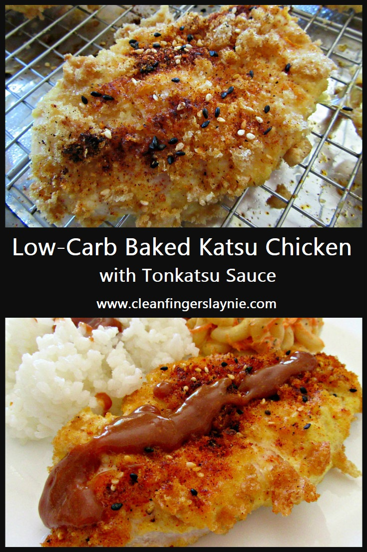 Low-Carb Baked Katsu Chicken with Tonkatsu Sauce - Clean Fingers Laynie