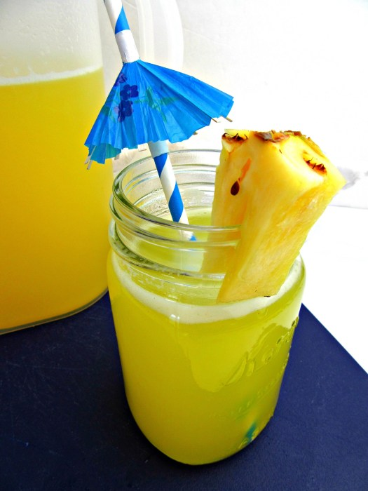 Pineapple Water (Agua de Pina) in Mason Jar