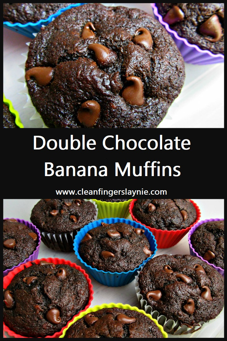 Double Chocolate Banana Muffins - Clean Fingers Laynie