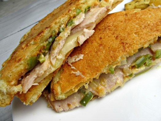 Parmesan-Crusted Sourdough Turkey Sandwich Close Up