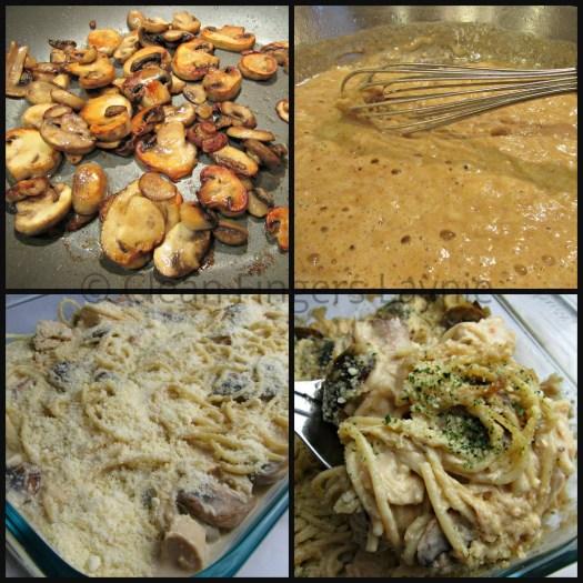 Chicken or Turkey Tetrazzini Process Shots