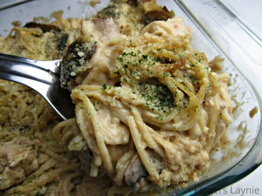 Chicken or Turkey Tetrazzini with Serving Spoon