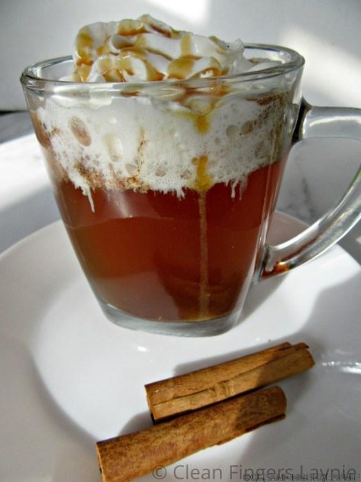Copycat Starbucks Caramel Apple Spice with Cinnamon Sticks