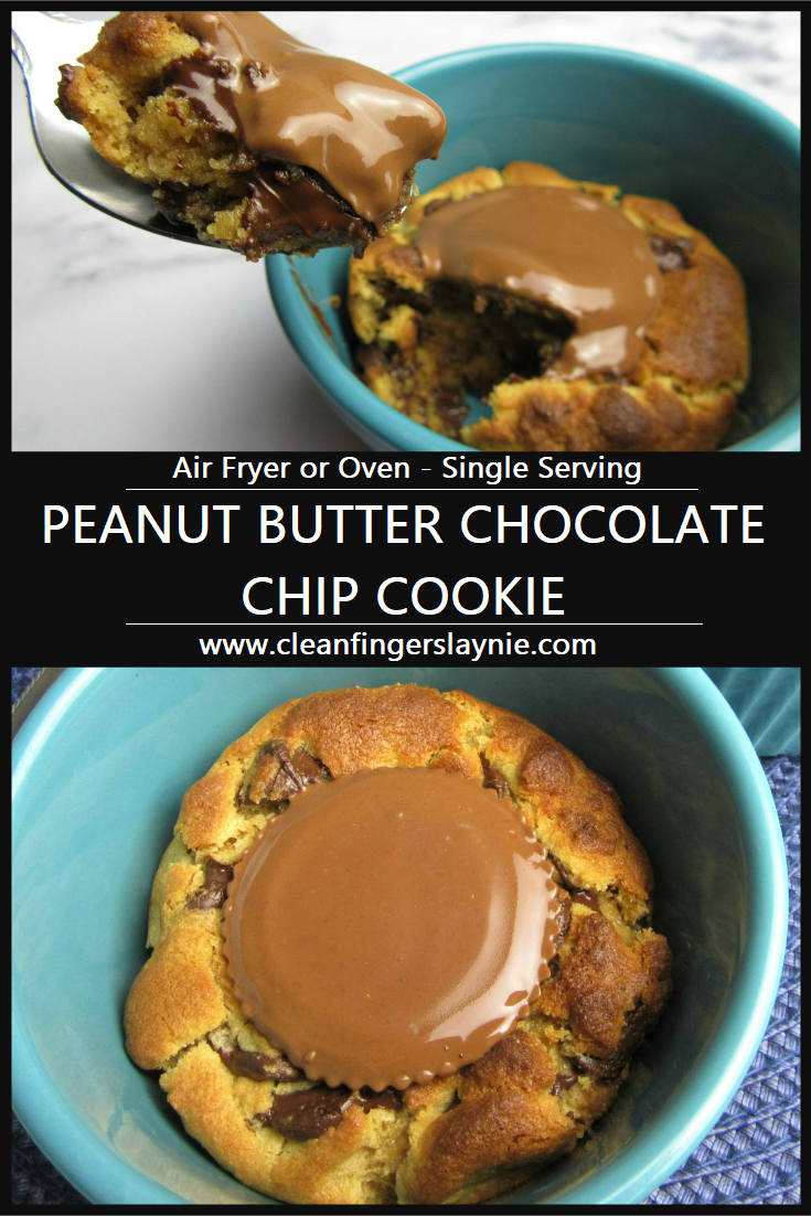 Peanut Butter Chocolate Chip Cookie - Clean Fingers Laynie