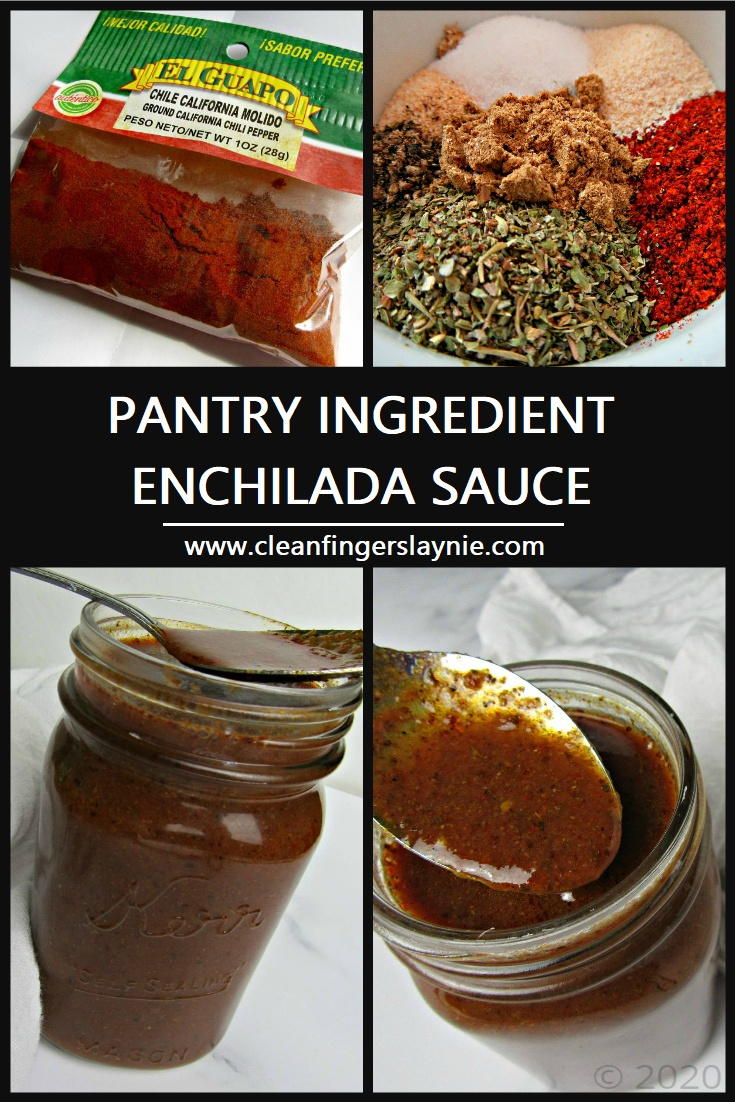 Pantry Ingredient Enchilada Sauce -- Clean Fingers Laynie