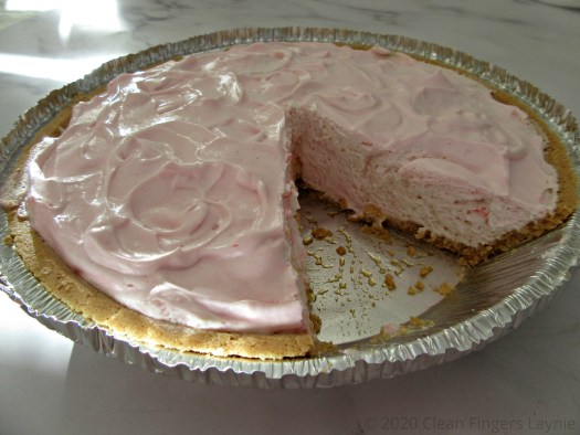 Whipped Topping and Yogurt Pie Side View