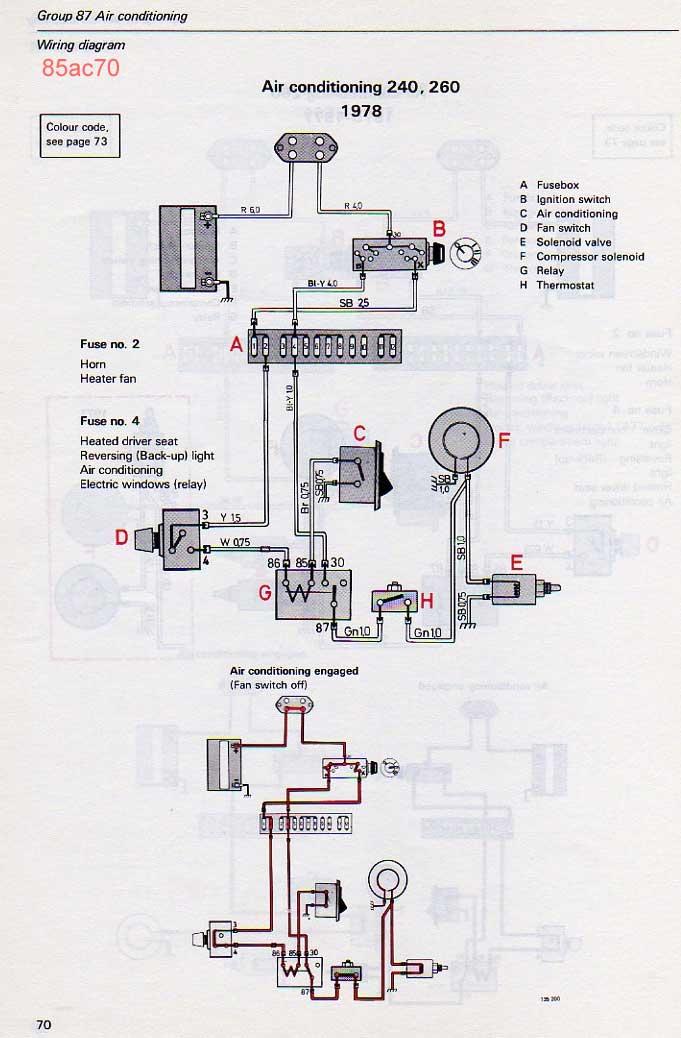 wiring diagram for alternator volvo 240