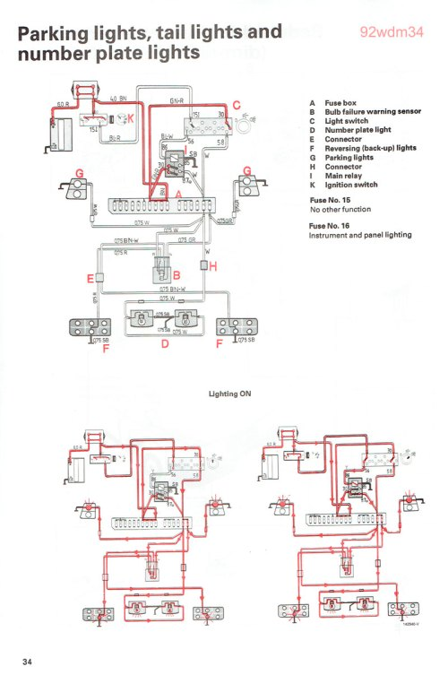 small resolution of 1991 volvo 240 tail light wiring diagram auto electrical wiring 2004 volvo xc90 parts diagram 1990