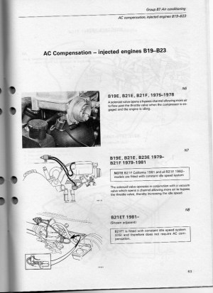Volvo 240 AC notes