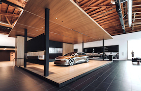 Lucid Motors Beverly Hills Studio