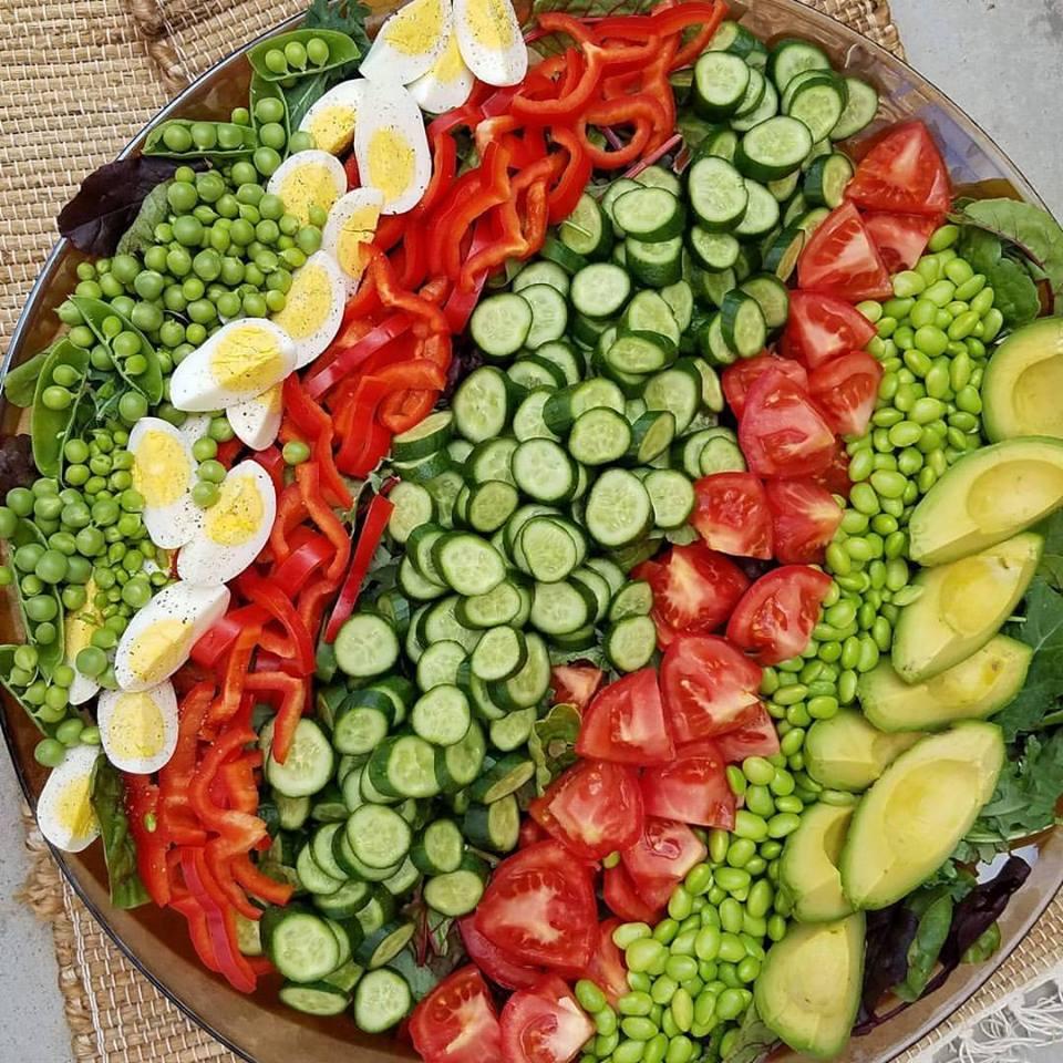 fresh garden salad with creamy garlic dressing clean food crush