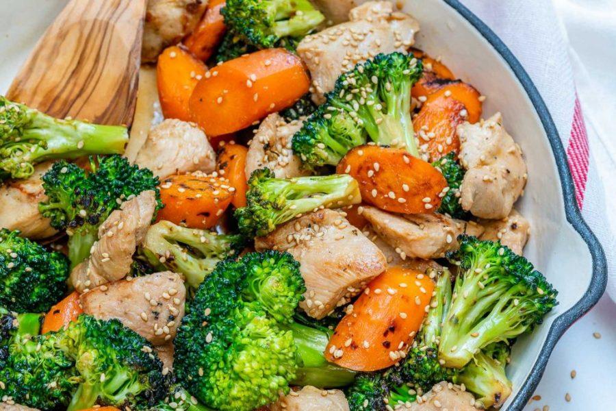 Teriyaki Chicken Veggie Skillet Recipe