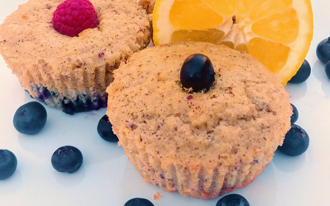 Healthy Lemon Blueberry muffins (Kid-friendly & Paleo)