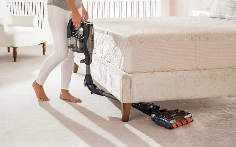 cleaning under bed