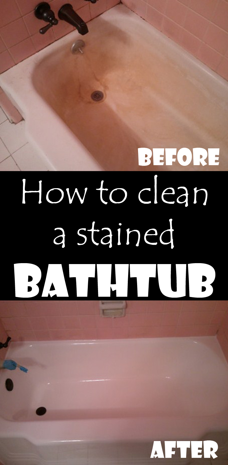 How To Clean A Stained Bathtub