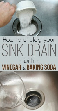 Unclog Kitchen Drain With Baking Soda And Vinegar