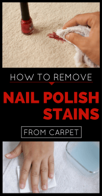 how to remove a nail polish stain from carpet