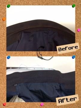 メンズ ジャケット の エリ 襟 の 変色 by 下町、東京都江東区亀戸の会員制クリーニングベレーナ