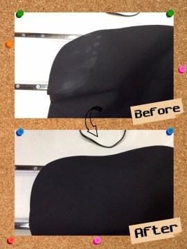 メンズ ジャケット についた ロウソク のしみ by 下町、東京都江東区亀戸の会員制クリーニングベレーナ