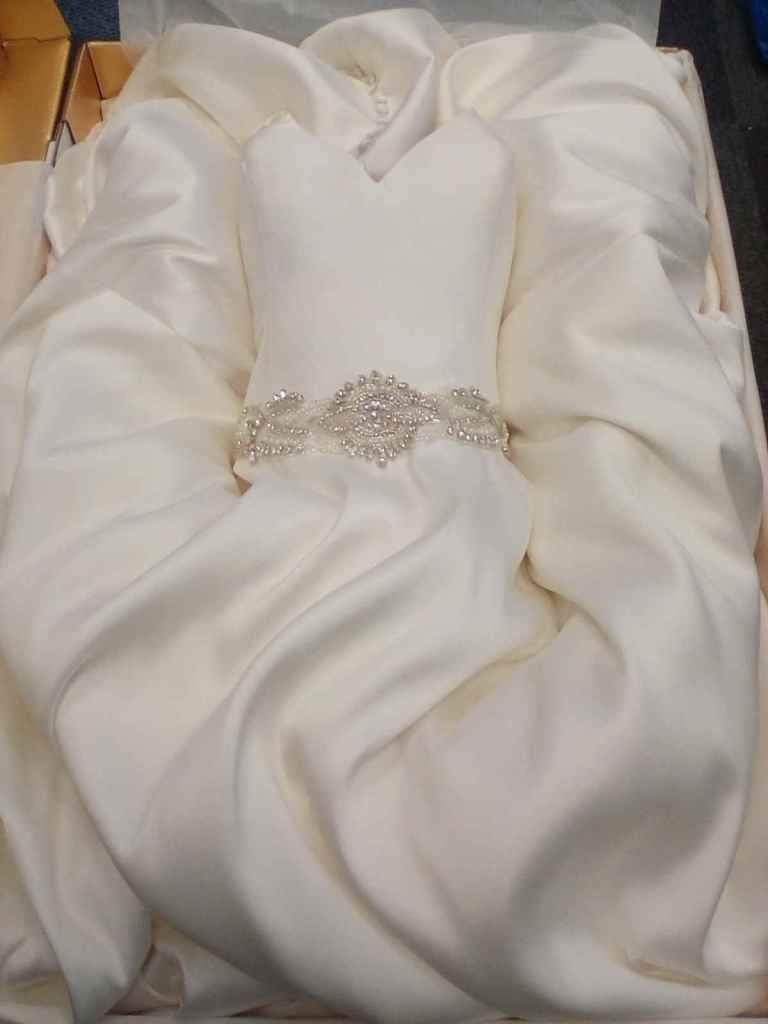 Beautiful wedding dress boxed