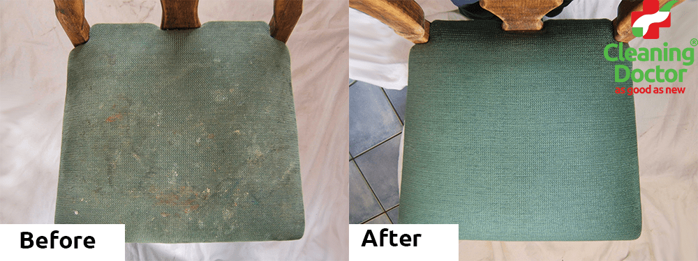 Heavily Soiled Dining Chair before + After