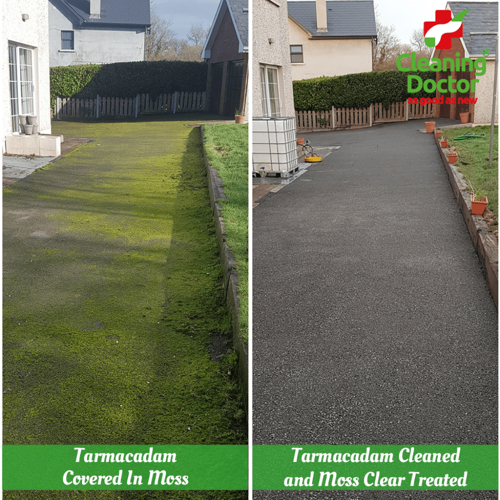 mossy driveway removal outdoor cleaning services