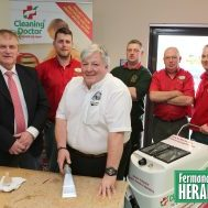 William Little of Cleaning Doctor with Wayne Little, Paul Pearce (Cleaning Consultant), Donal O'Sullivan, Liam Hennessey & Christopher Reid at a recent training day.  RMGFH09