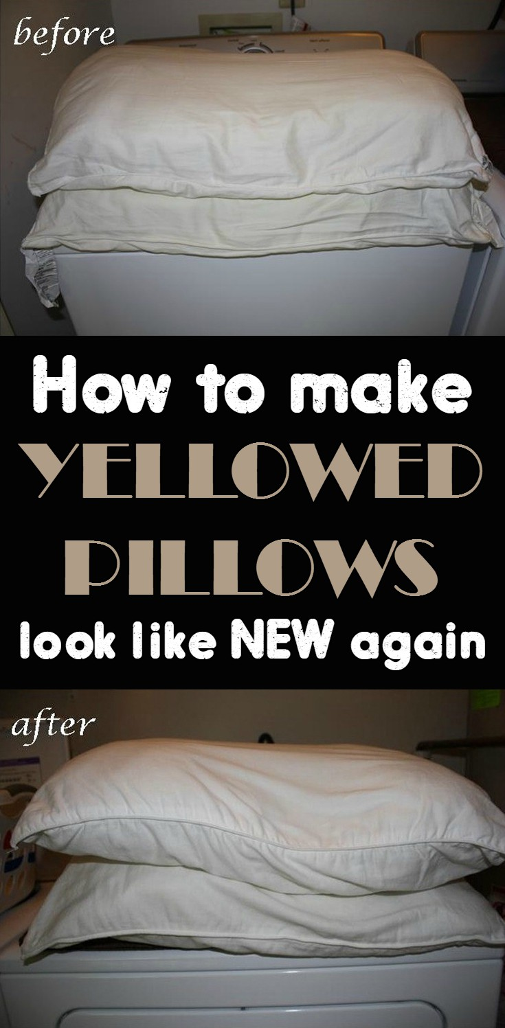 How To Make Yellowed Pillows Look Like New Again