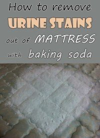 How to remove urine stains out mattress with baking soda ...