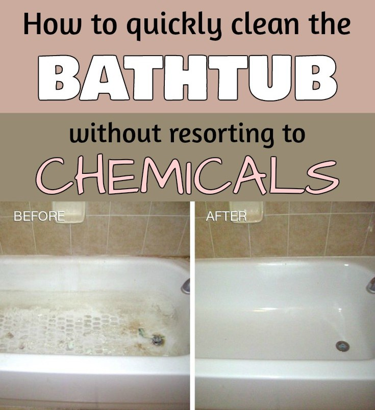 How To Quickly Clean The Bathtub Without Resorting To