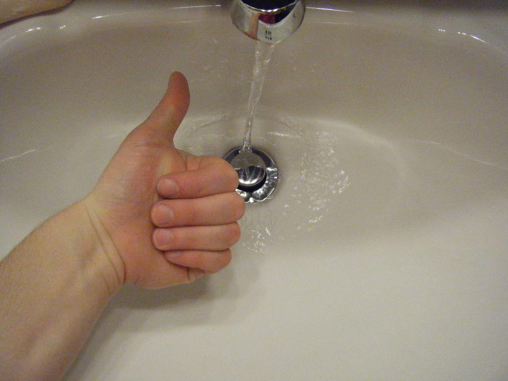 unclog the bathroom sink drain