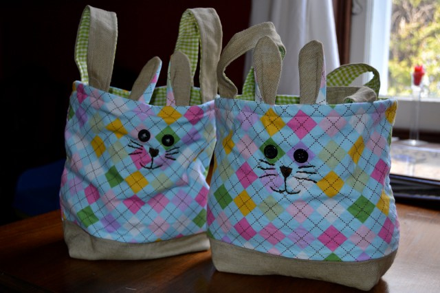 Homemade Fabric Easter Basket - Sewing project