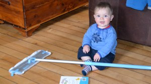 win an ecloth mop contest - even a baby can use it!