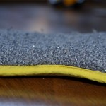 side view of used ecloth washing up pad