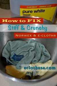 how to fix stiff or crunchy norwex or ecloth microfiber cloths