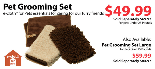 ecloth pet cleaning set