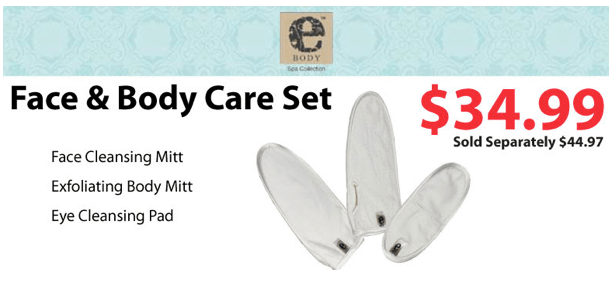 ebody face and body care set