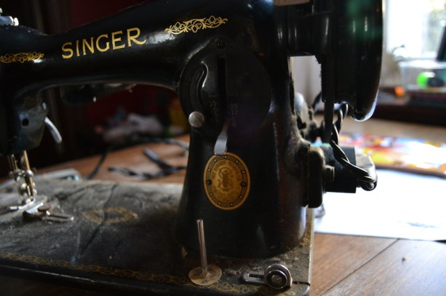 Neglected singer sewing machine