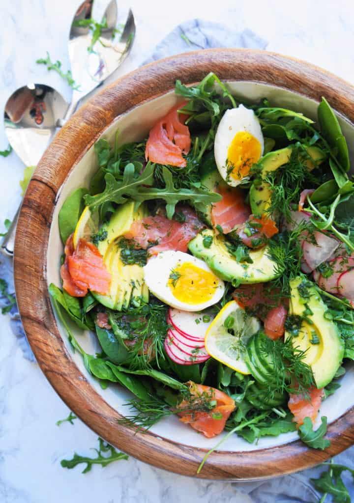 Smoked Salmon Salad with Lemon Dill Vinaigrette