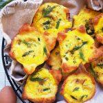 Clean Keto Asparagus Ham and Gruyere Egg Puffs