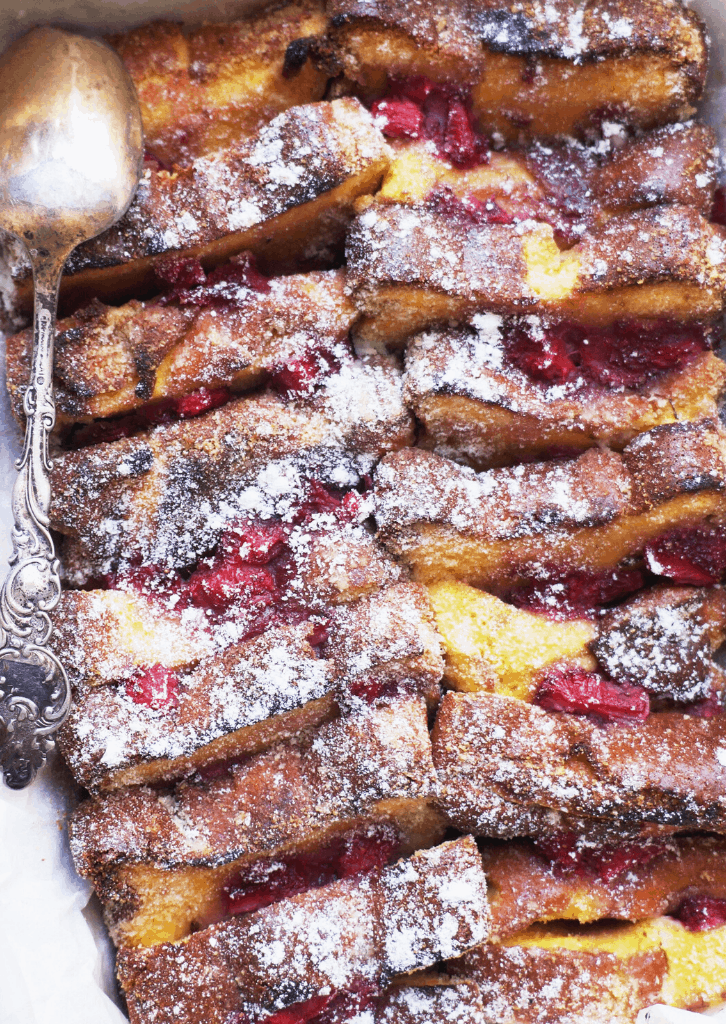 Keto Strawberry French Toast Casserole