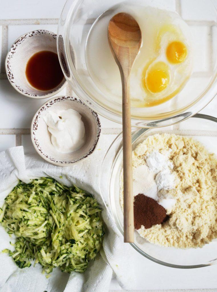 Keto Zucchini Bread Ingredients