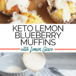 Clean Keto Lemon Blueberry Muffins